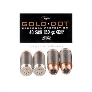 40 S&W – 180 gr. JHP – Speer Gold Dot (23962)