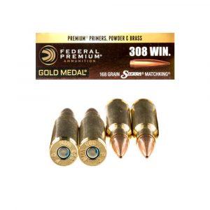 308 Win - 168 gr BTHP - Federal Gold Medal Sierra MatchKing (GM308M)