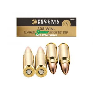 308 Win - 175 gr BTHP - Federal Gold Medal Sierra MatchKing (GM308M2)