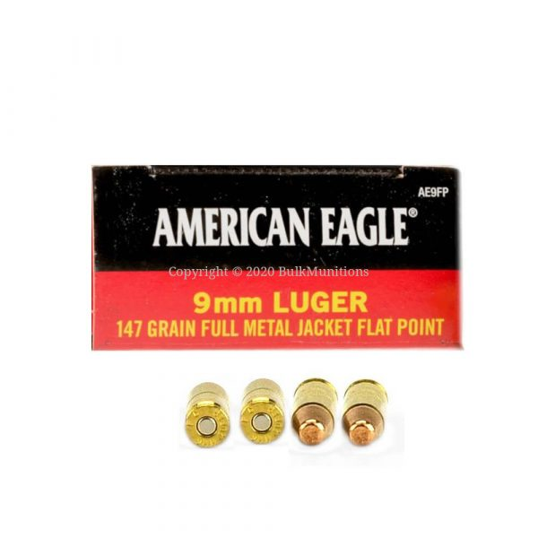 9mm Luger 147 grain Ammo - American Eagle - AE9FP