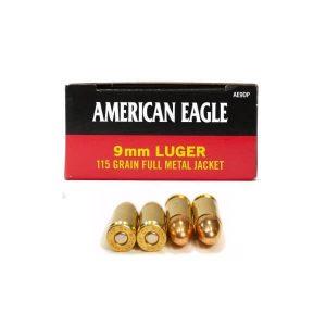 Bulk 9mm Luger Ammo - American Eagle - AE9DP