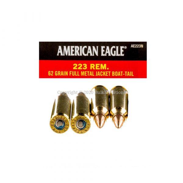 223 Rem – 62 gr. FMJ-BT- Federal American Eagle (AE223N)