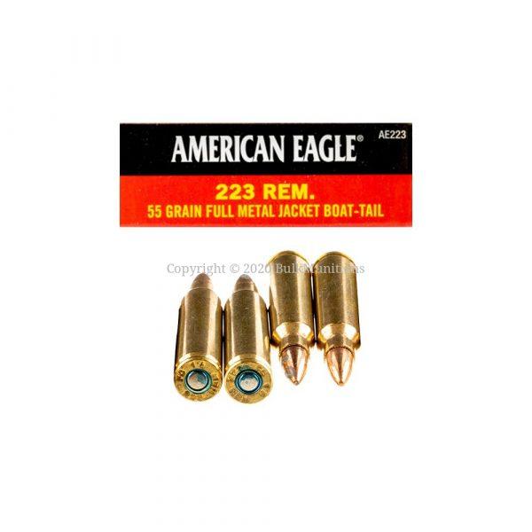 Bulk 223 Rem Ammo - 55gf FMJ - Federal AE223