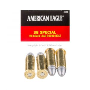 Federal 38 Special 158 grain LRN AE38B Ammo