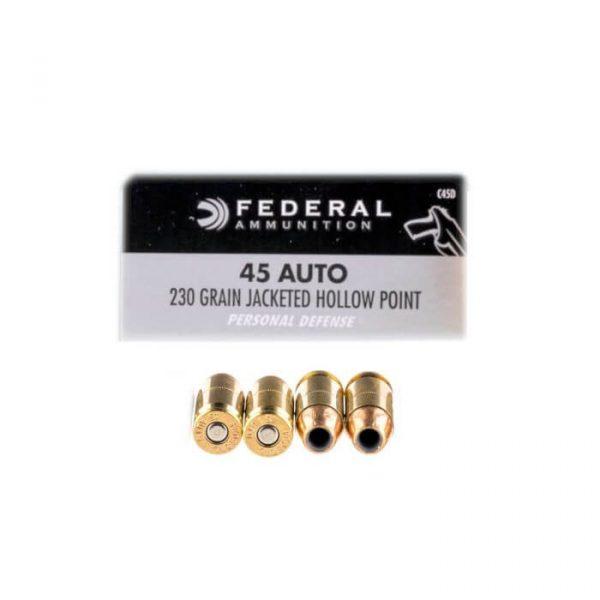 Bulk 45 ACP 230 gr JHP Federal C45D