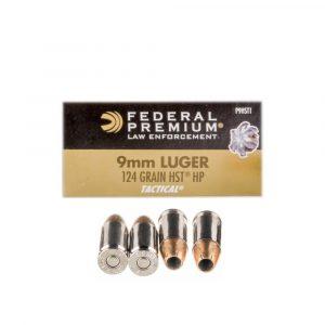 Bulk 9mm 124 JHP HST Federal P9HST1
