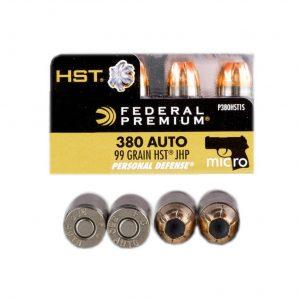 Bulk 380 Auto - 99 Grain HST JHP - Federal Personal Defense (P380HST1S)