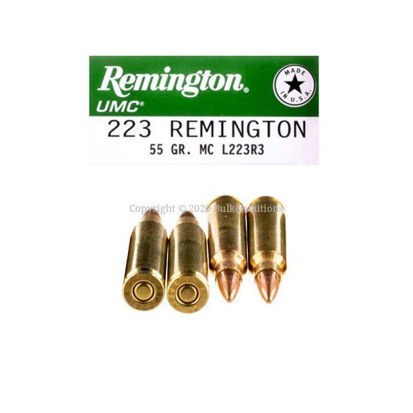 Bulk 223 Rem - 55 Grain FMJ - Remington UMC (L223R3)