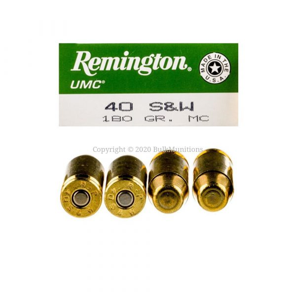 40 S&W - 180 Grain FMJ - Remington UMC (L40SW3) - 500 Rounds