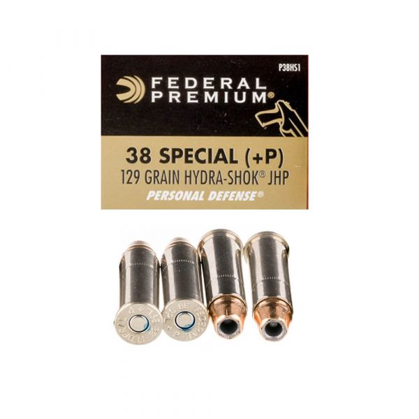 38 Special – 129 gr. JHP+P – Federal Hydro-Shok (P38HS1)