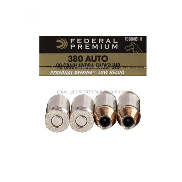 380 Auto – 90 Grain JHP – Federal Hydro-Shok (PD380HS1 H)
