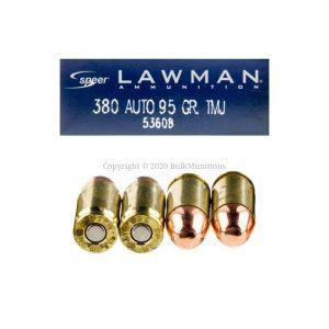 380 Auto – 95 gr. TMJ – Speer Lawman (53608)