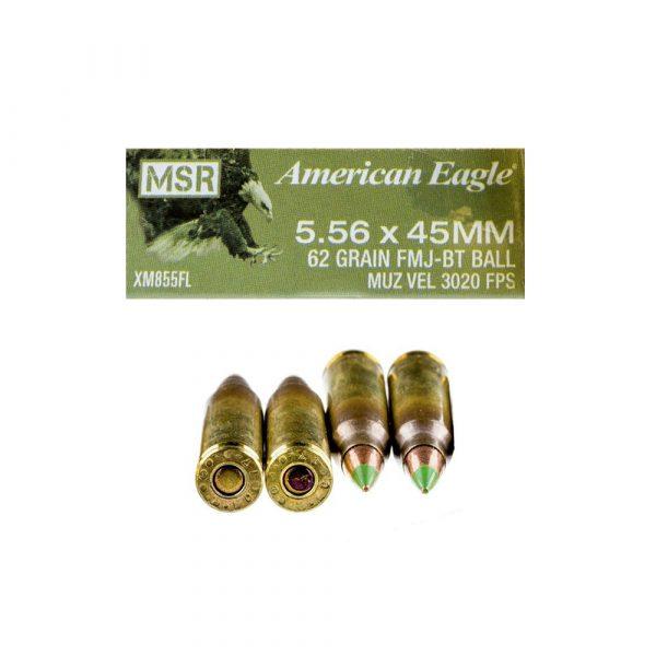 5.56x45mm – 62 gr FMJ M855 – Federal (XM855FL)