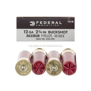 12 Gauge - 00 Buck - 9P - 2 3-4 - Federal (F127 00)
