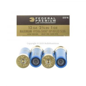 12 Gauge - Rifled Slug - 1oz - Low Recoil Hydra-Shok HP - 2 3-4 - Federal (LE127RS)