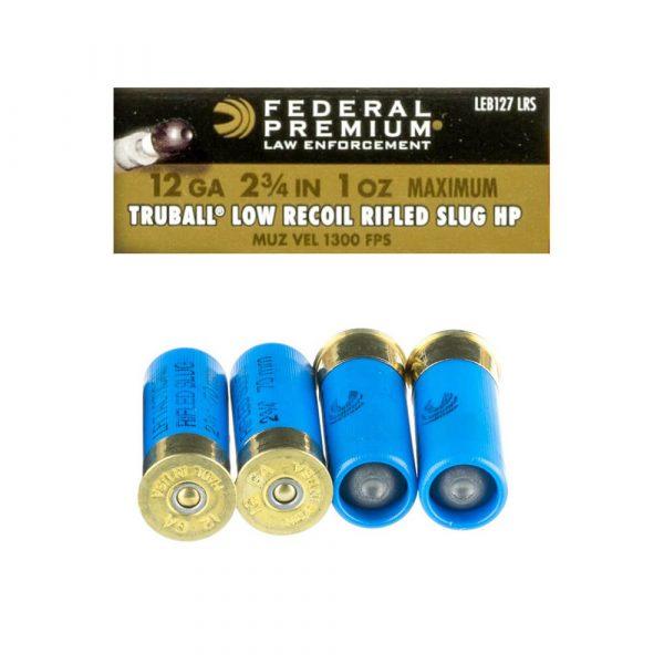 12 Gauge - Rifled Slug - 1oz - Low Recoil TruBall - 2 3-4 - Federal (LEB127LRS)