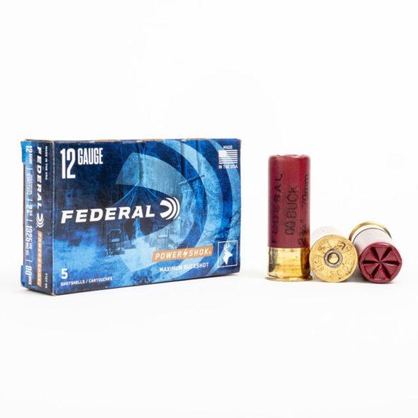 Federal F127 00 12 Gauge 9 Pellet 00 Buck Box Front