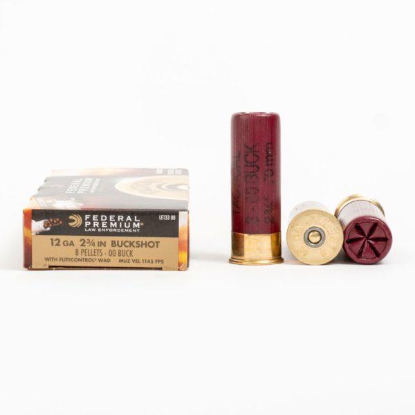 Federal LE133 00 12 Gauge 8 Pellet 00 Buck Ammo Box Side