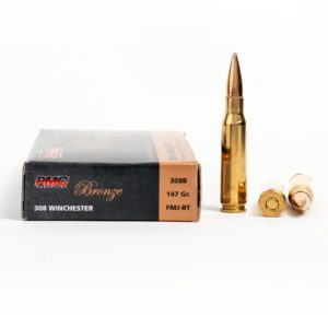 PMC 308B 308 Winchester 147 Grain FMJ Ammo Box Side