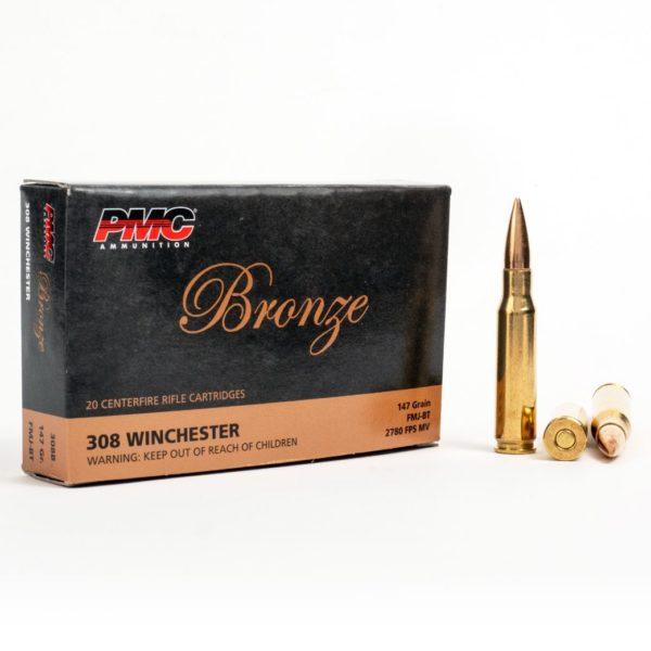 PMC 308B 308 Winchester 147 Grain FMJ Box Front