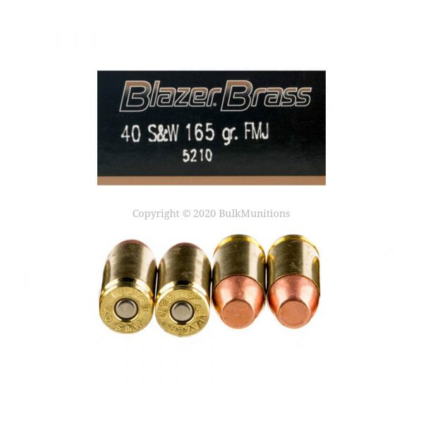 40 S&W - 165 gr FMJ - Blazer Brass (5210) - 1000 Rounds