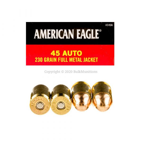 45 Auto - 230 gr FMJ - Federal AE (AE45A) - 1000 Rounds