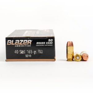 Blazer 5210 40 Smith & Wesson 165 Grain FMJ Ammo Box Side