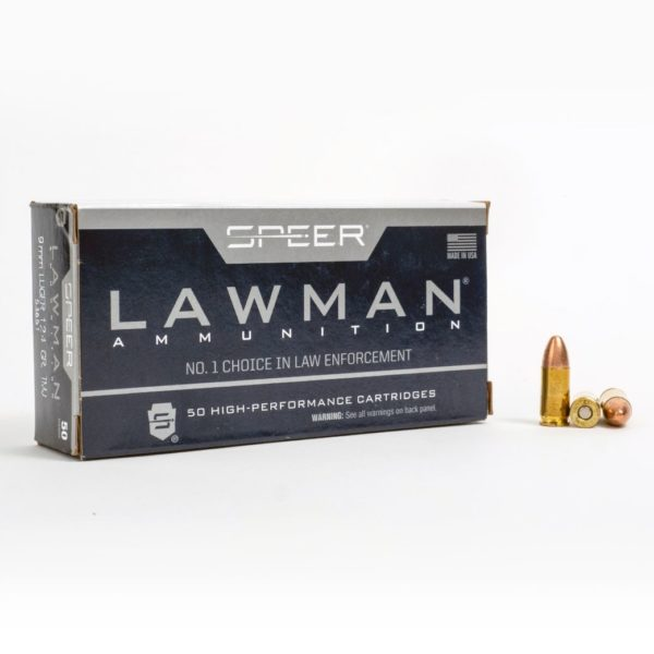 Speer 53651 9mm Luger 124 Grain TMJ Box Front