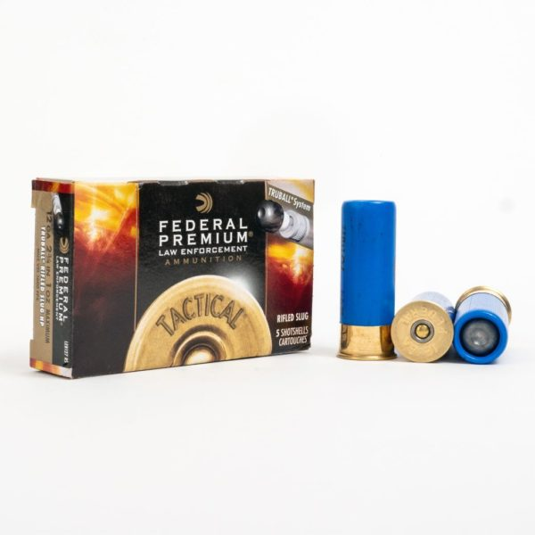 Federal LEB127 RS 12 Gauge 1 Ounce Rifled Slug Box Front