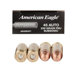 45 ACP - 230 gr FMJ Subsonic - Federal American Eagle (AE45SUP1)