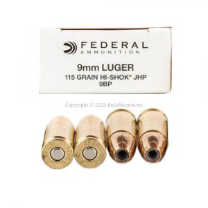 9mm - 115 gr JHP - Federal Hi-Shok (9BP)