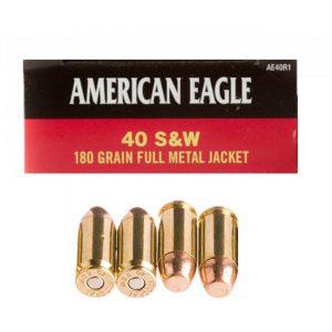AE40R1 - Federal American Eagle 40 SW 180gr FMJ Ammo
