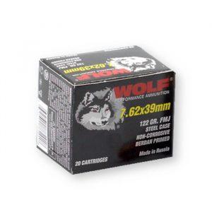 762x39mm 122 gr fmj wolf performance ammo