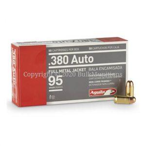 Aguila 380 ACP 95 grain FMJ Ammo - 1E802110