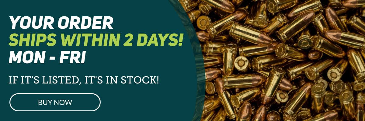 Bulk Ammo Free Shipping Fast and In Stock - Homepage Banner