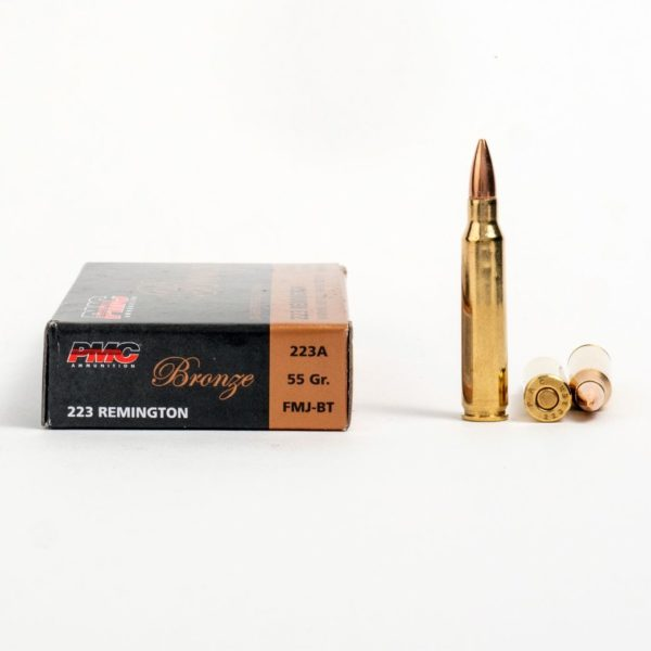 PMC 223A 223 Remington 55 Grain FMJ Ammo Box Side
