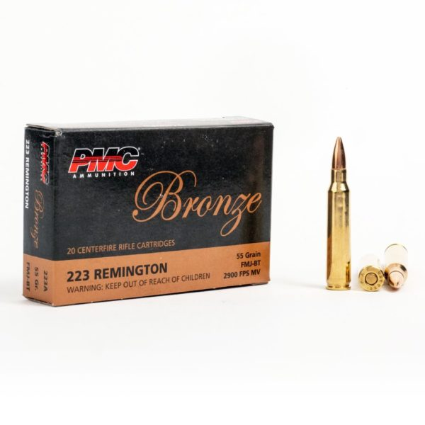 PMC 223A 223 Remington 55 Grain FMJ Box Front