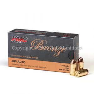 PMC 380A 380 ACP 90gr FMJ ammo