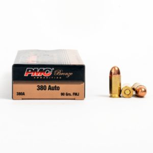 PMC 380A 380 Auto 90 Grain FMJ Ammo Box Side