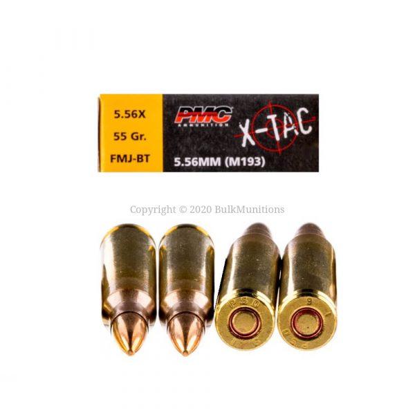 PMC 5.56x45mm XTAC 556X 55gr FMJ M193 Bulk Ammo