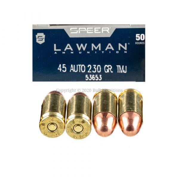 Speer Lawman 45 ACP 230gr TMJ Bulk Ammo 53653