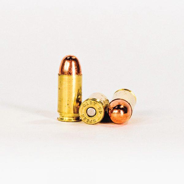 45 ACP 230gr TMJ Speer Lawman CleanFire 53885 Ammo Rounds