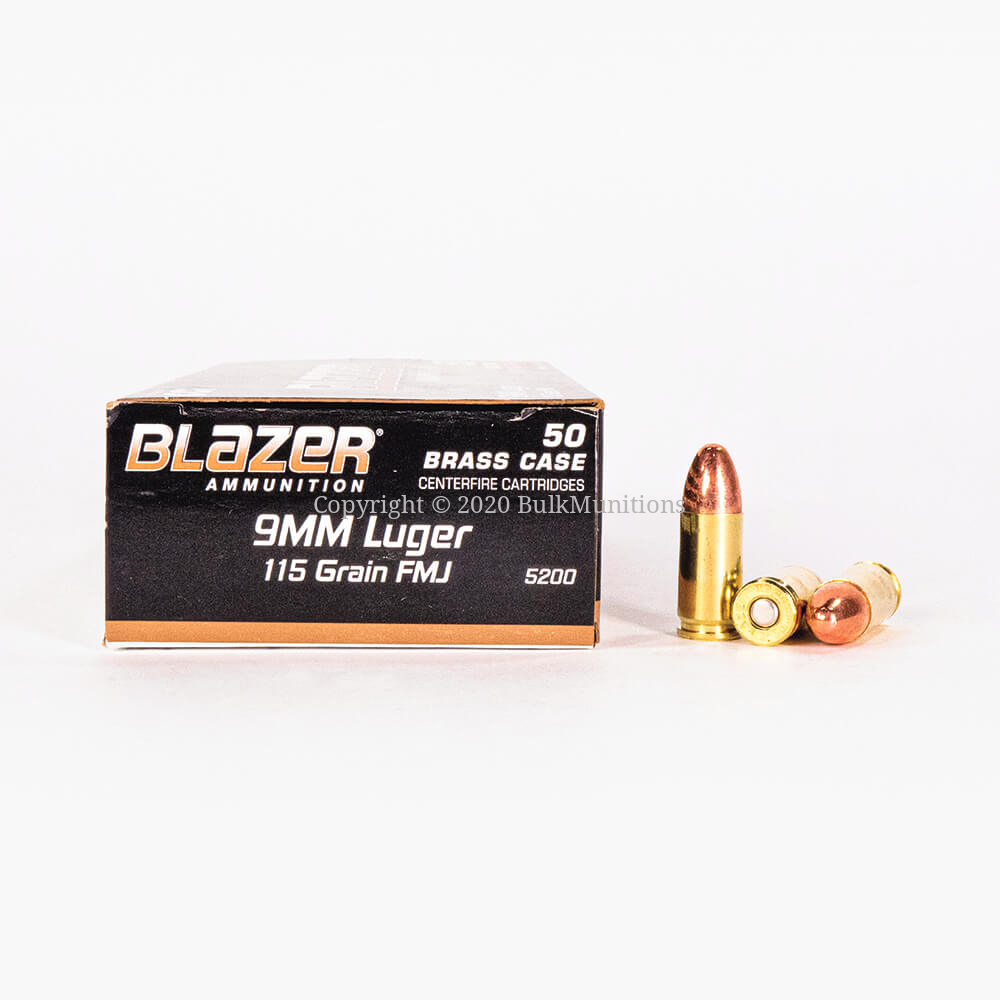 9mm Ammo For Sale 115gr Fmj Blazer Brass 1000 Rounds
