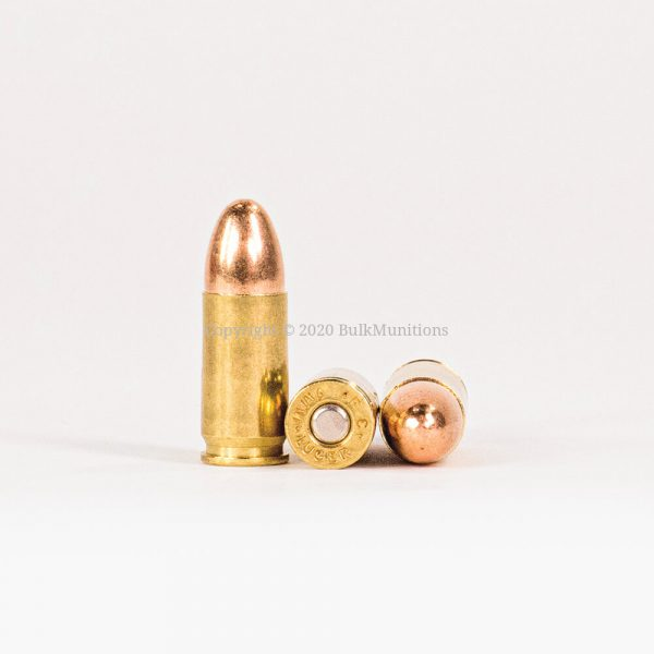9mm Luger 124gr FMJ Federal American Eagle AE9AP Ammo Rounds