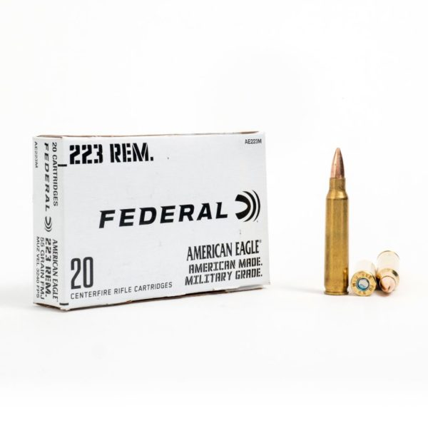 Federal AE223M 223 Remington 55 Grain FMJ Box Front