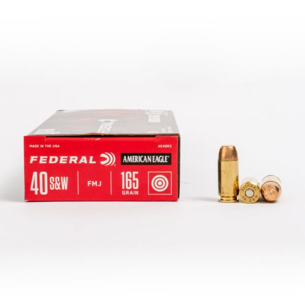 Federal AE40R3 40 Smith & Wesson 165 Grain FMJ Ammo Box Side