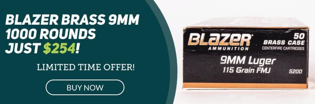 Blazer Brass 9mm Bulk Ammo For Sale Banner
