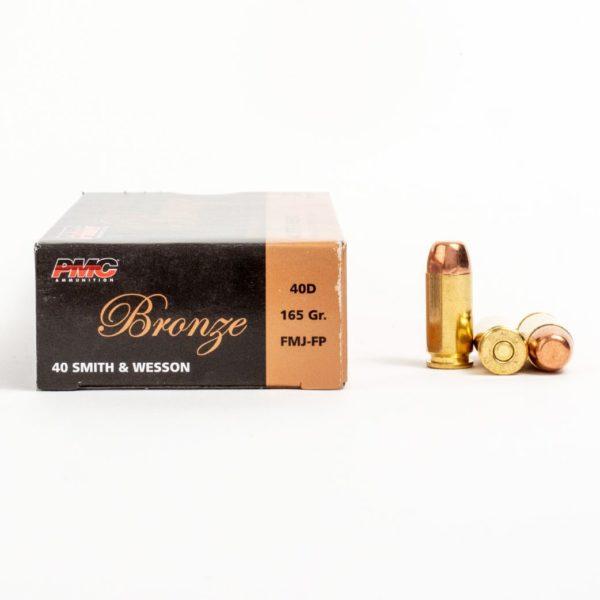 PMC 40D 40 Smith & Wesson 165 Grain FMJ Ammo Box Side
