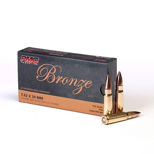 PMC 762A 762x39mm Bulk Ammo Brass Case 123gr FMJ