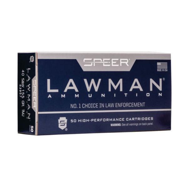 Speer Lawman 40 SW 155gr TMJ 53957 Ammo In Bulk
